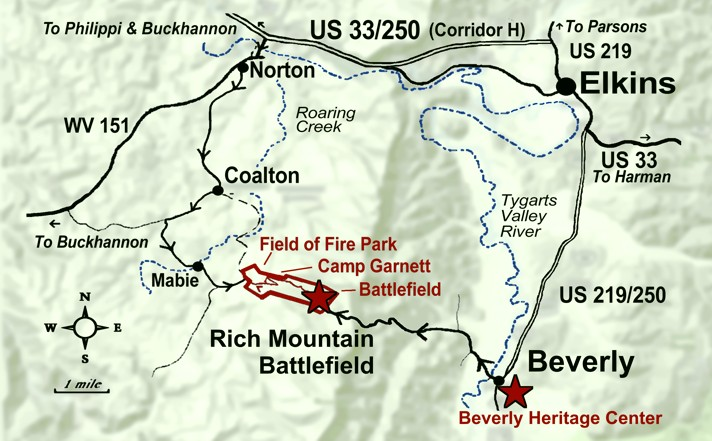 Rich Mountain local map